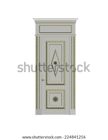 3D paint door pattern. (Can be used as texture for cards, invitations, DIY projects, web sites or for any other design)  - stock photo