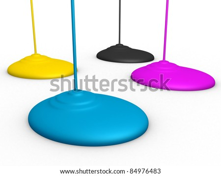 3d Paint Dripping - stock photo