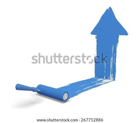 3D. Paint, Paint Roller, Painting. - stock photo
