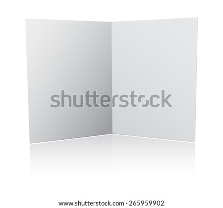 3d paper folder open - stock photo