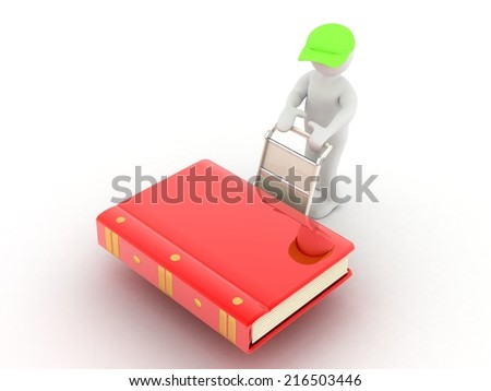 3d people  Courier - stock photo