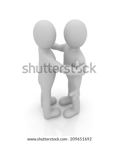 3d people hug