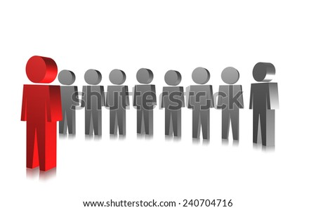 3D people in group. Leader meeting with the group. - stock photo