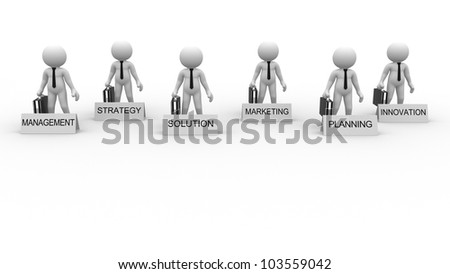 3d people - man, person and conceptual image of strategy. Businessmen - stock photo