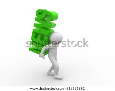 """3d people - men, person and word """"NEWS"""". The concept of success - stock photo"""