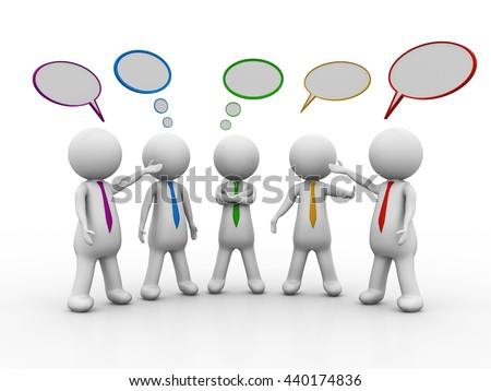 3d people - men, person together. Businessmen. Leadership and team - stock photo