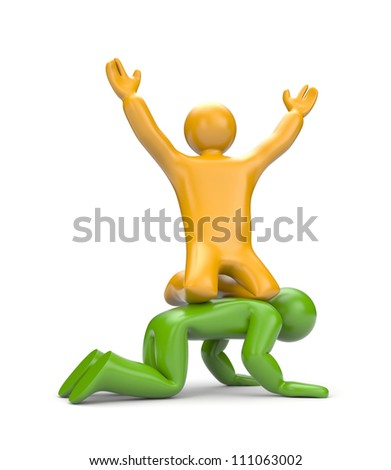 3d people. Success metaphor - stock photo