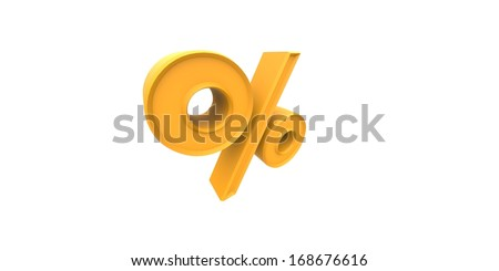3d percent sign - stock photo