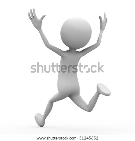 3d person on white background