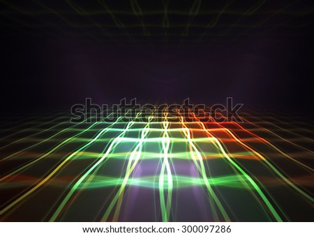 3d perspective grid background texture - stock photo