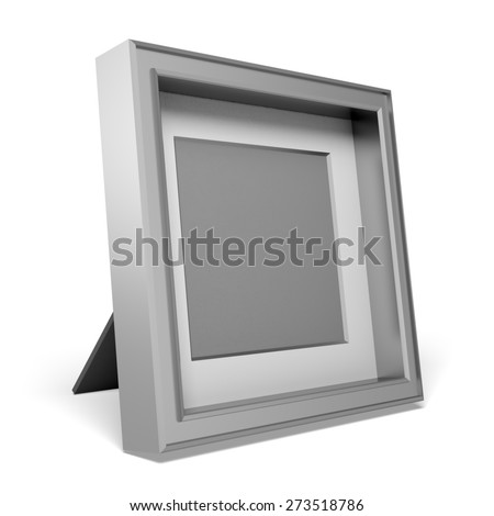 3D. Picture Frame, Photography, Isolated.