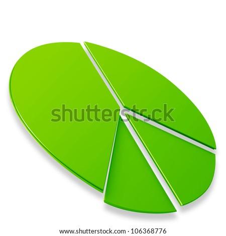 3d pie chart graph - stock photo