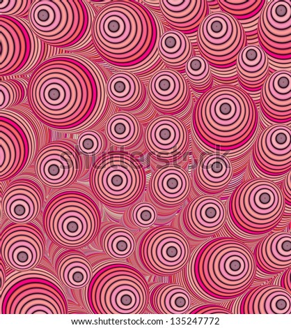 3d pink curly worm shape backdrop - stock photo
