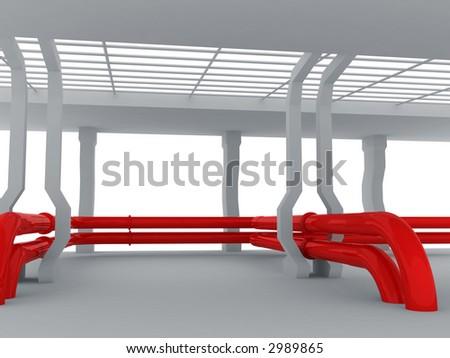 3d--pipeline - stock photo