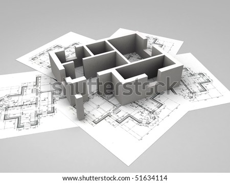 Architecture Blueprints 3d architecture background stock vector 302308100 - shutterstock