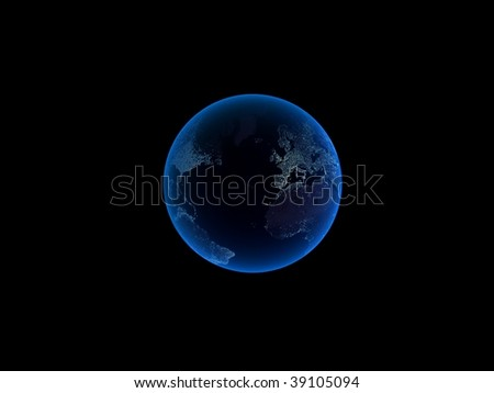 3d planet - stock photo