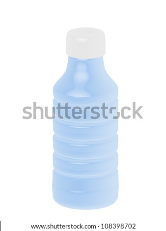 3D Plastic Bottle - stock photo