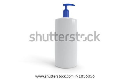 3D Plastic Container - stock photo