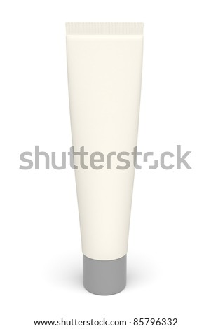 3d plastic tube on the white background