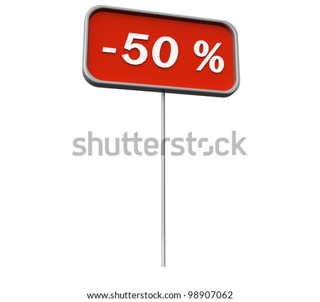 3d plate, with discounts on a white background isolated