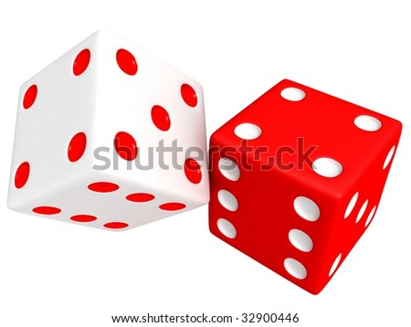 3d playing dice - stock photo