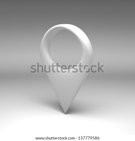 3D pointers illustration - stock photo