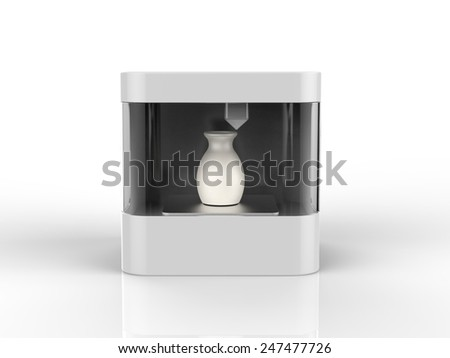 3d printer - stock photo