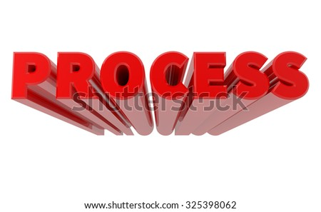 3D PROCESS word on white background 3d rendering