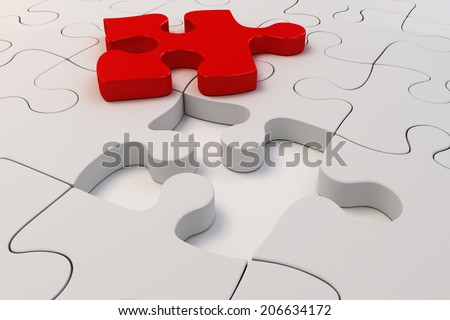 3d puzzle pieces background