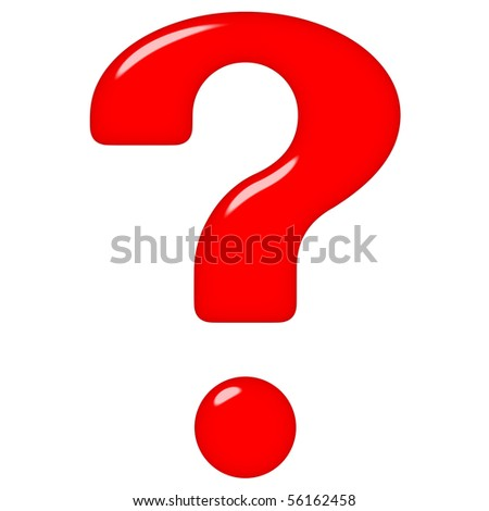 3d question mark - stock photo
