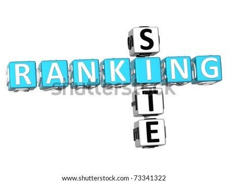 3D Ranking Site Crossword on white background - stock photo