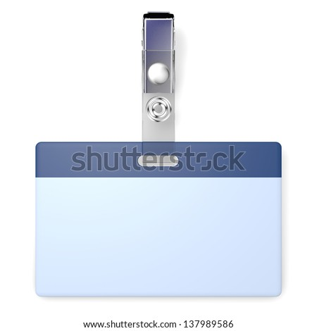 3D realistic render with blank badge and copyspace - stock photo