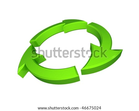 3d recycle/ecology icon