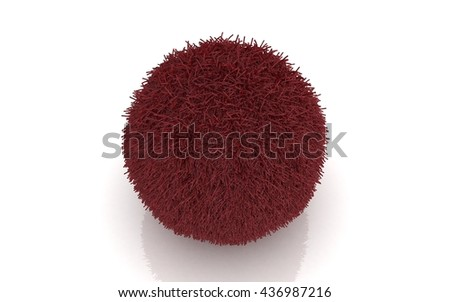 3D red ball isolated on white background - stock photo