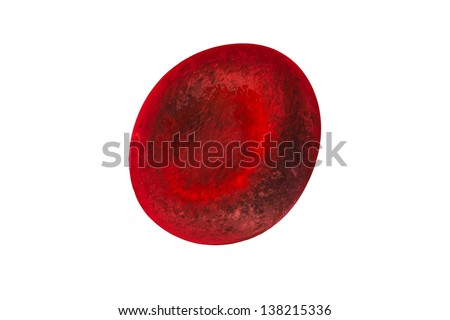 3d red blood cells - stock photo