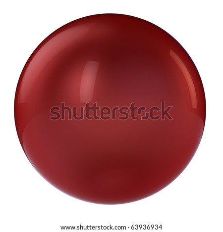 3d red sphere in studio environment isolated on white - stock photo