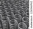 3d redering of a a lot of metal springs - stock photo