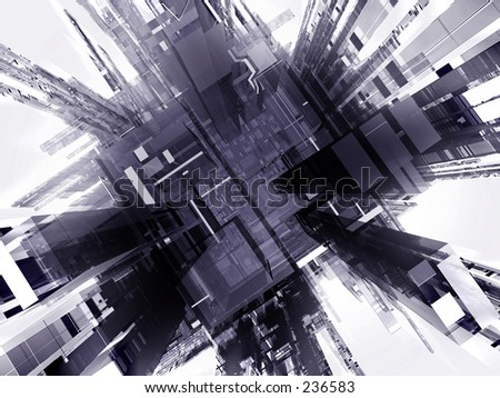 3d render abstract background - stock photo