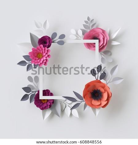 3D Flower Template