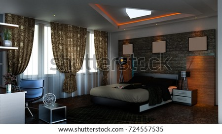 3D Render Bedroom Design