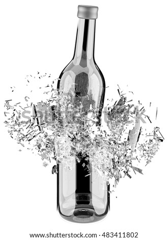 Breaking glass stock images royalty free images vectors for How to break bottom of glass bottle