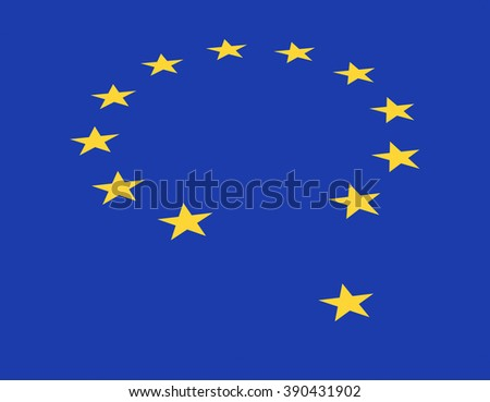 3d render brexit concept with European Union flag and the Great Britain star leaving.  - stock photo