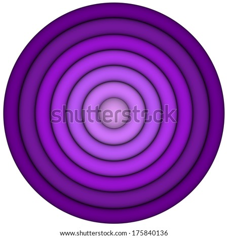 3d render concentric pipes in multiple pink magenta - stock photo