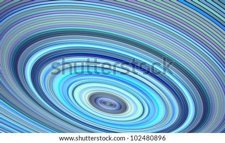 3d render concentric pipes tube abstract blue hole backdrop - stock photo