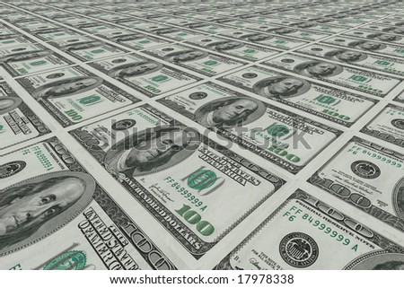 3D Render $100 Dollar Bill