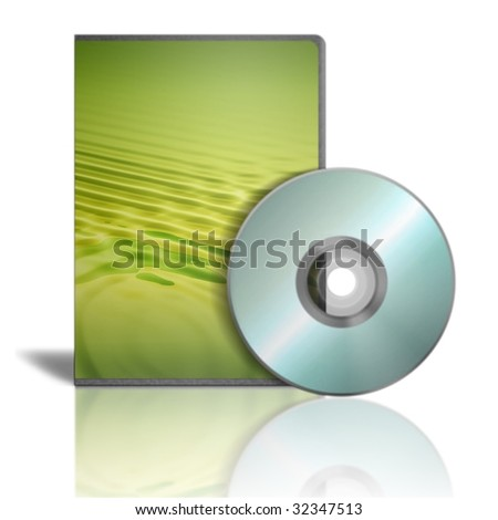 3d render dvd cases on white background
