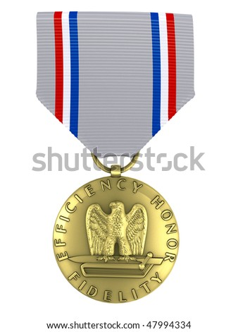 3d render Good conduct medal