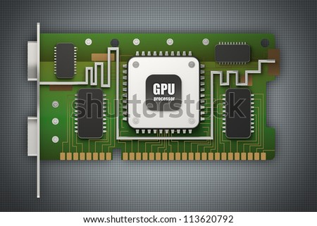 3d render graphic card GPU High resolution
