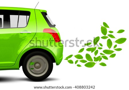 3D Render, Green energy. Save the earth, ecology - stock photo