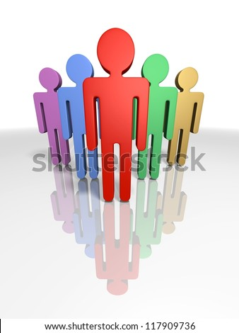 3d render illustrating leadership - stock photo